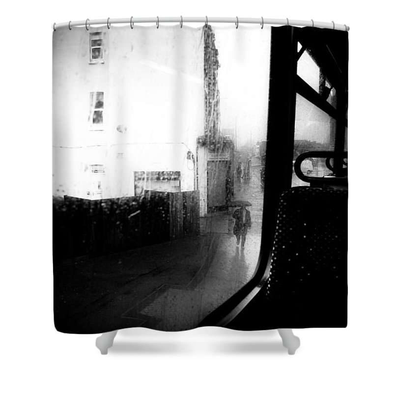 City Shower Curtain featuring the photograph From The Bus by Dorit Fuhg