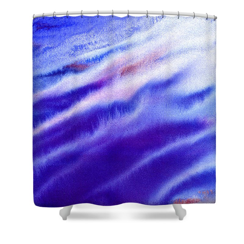 Frost Shower Curtain featuring the painting Frost On The Meadow by Hakon Soreide