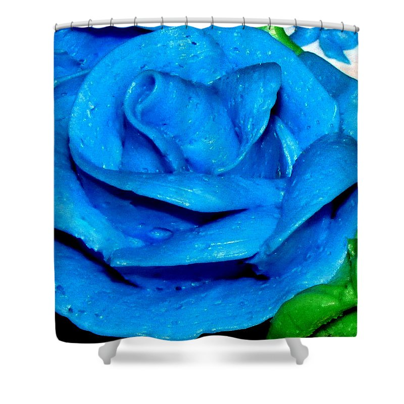 Rose Shower Curtain featuring the photograph Frosting Rose by Denise Keegan Frawley