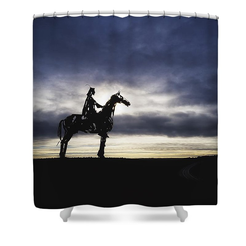 Weather Shower Curtain featuring the photograph Gaelic Chieftain By Maurice Harron by The Irish Image Collection