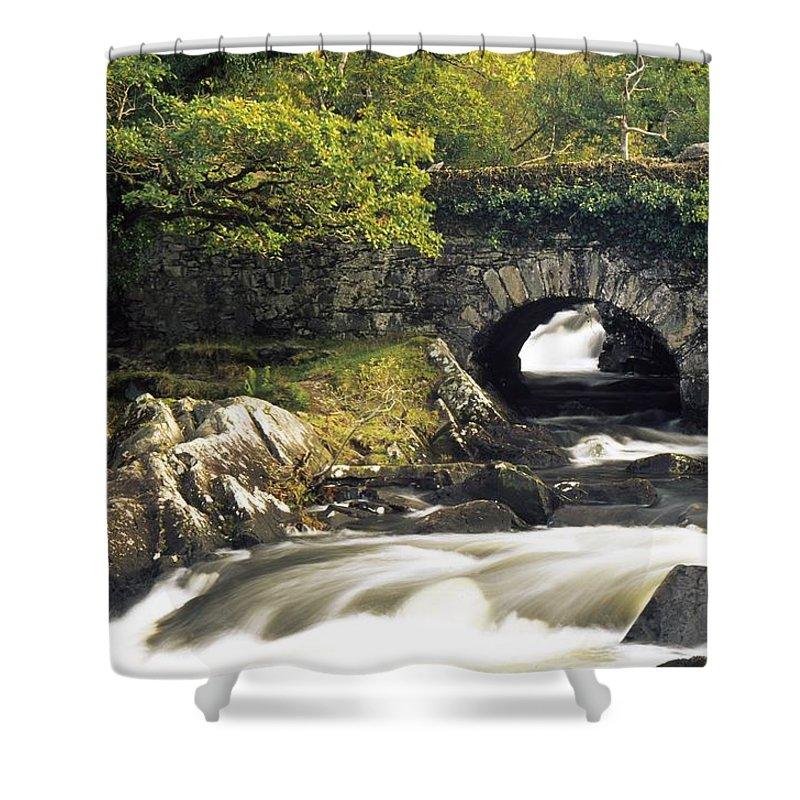Biosphere Shower Curtain featuring the photograph Galways Bridge, Killarney National by Richard Cummins