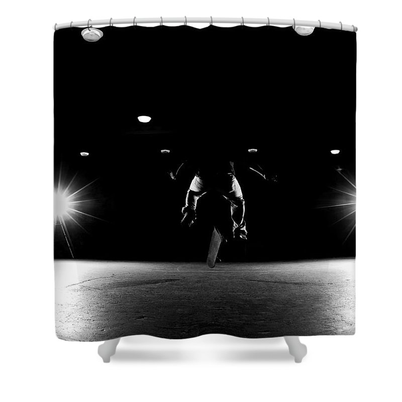 Skate Shower Curtain featuring the photograph Game Of Skate by Cale Best
