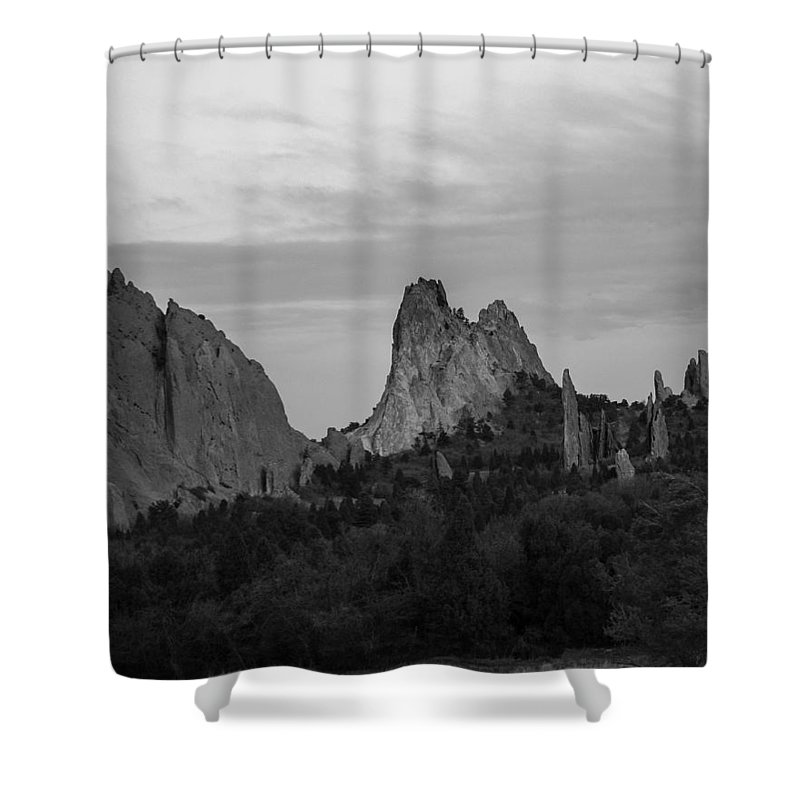 Lanscapes Shower Curtain featuring the photograph Garden Of The Gods by Rebecca Akporiaye