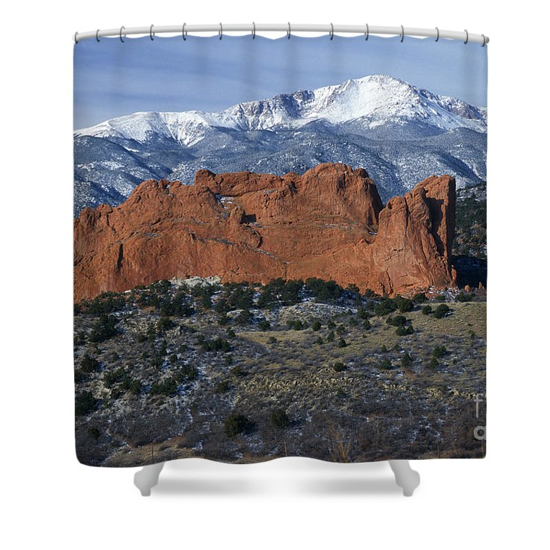 Bronstein Shower Curtain featuring the photograph Garden Of The Gods by Sandra Bronstein