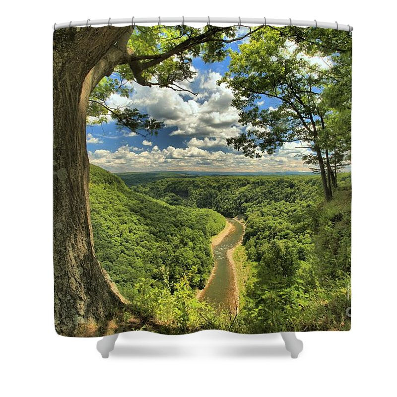 Letchworth State Park Shower Curtain featuring the photograph Genesee by Adam Jewell