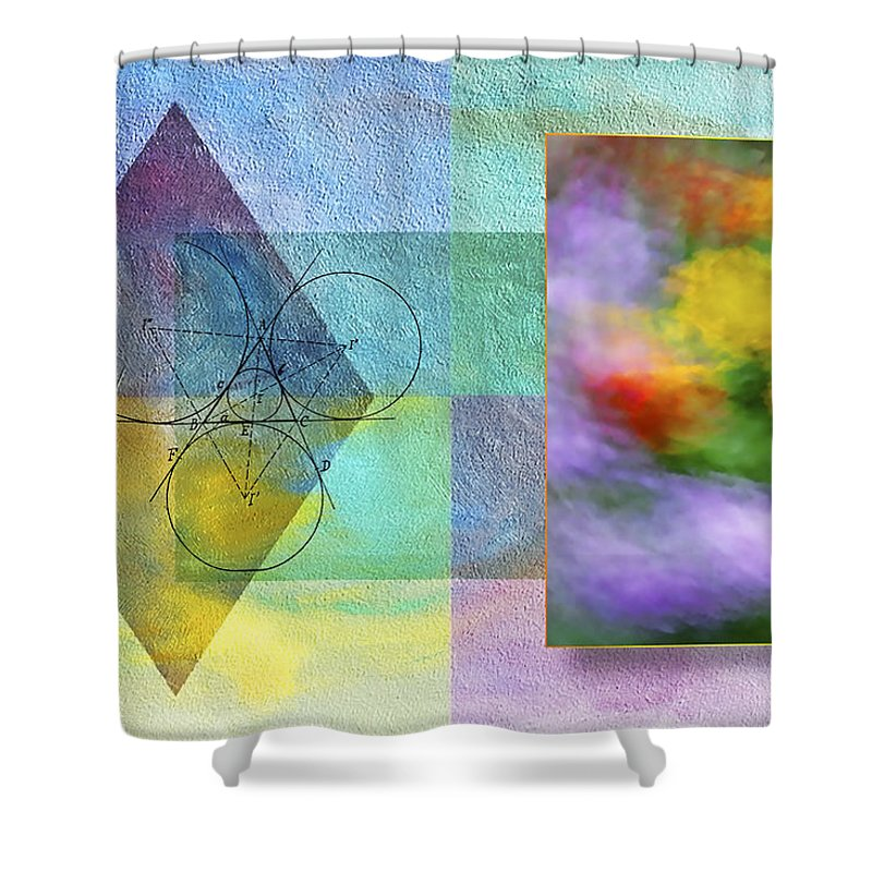 Abstract Shower Curtain featuring the photograph Geometric Blur by Susan Candelario