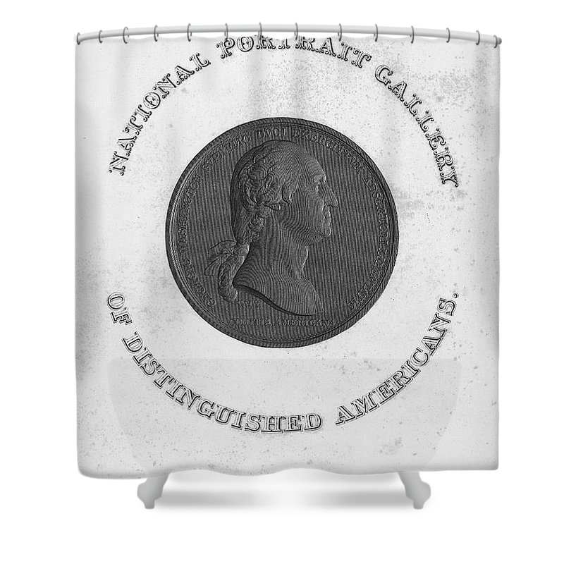 18th Century Shower Curtain featuring the photograph George Washington (1732-1799) by Granger