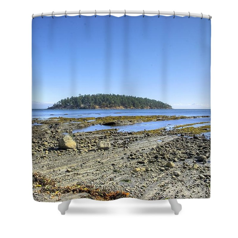 Georgeson Island Shower Curtain featuring the photograph Georgeson Island by John Greaves