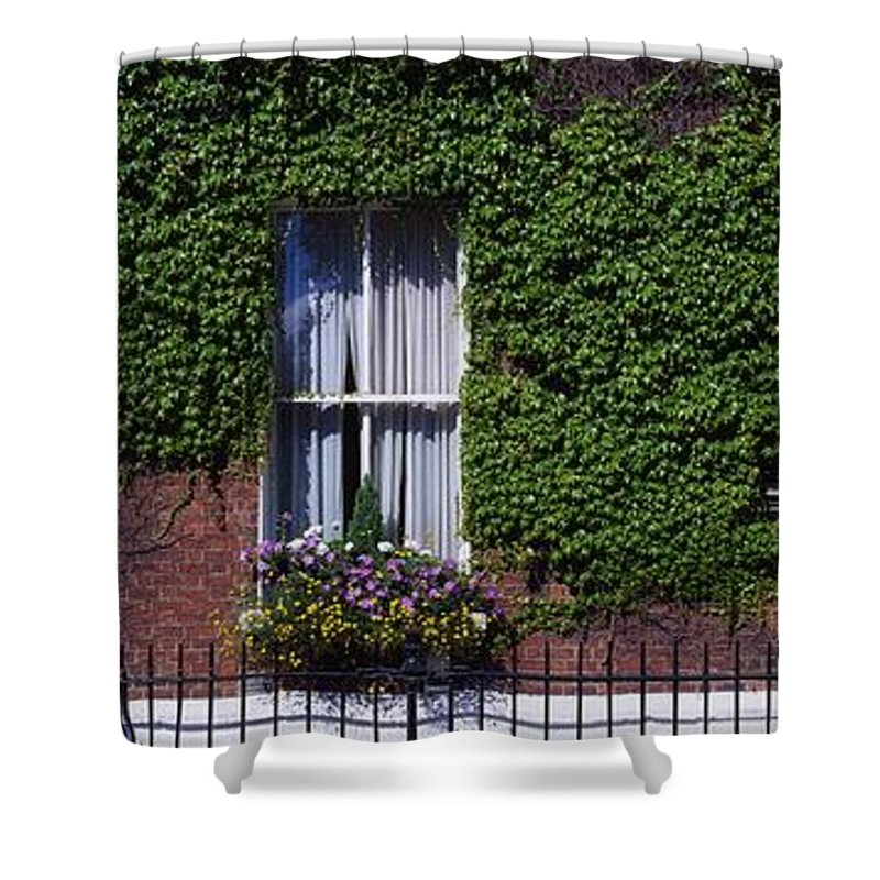 Climbing Shower Curtain featuring the photograph Georgian Doors, Fitzwilliam Square by The Irish Image Collection