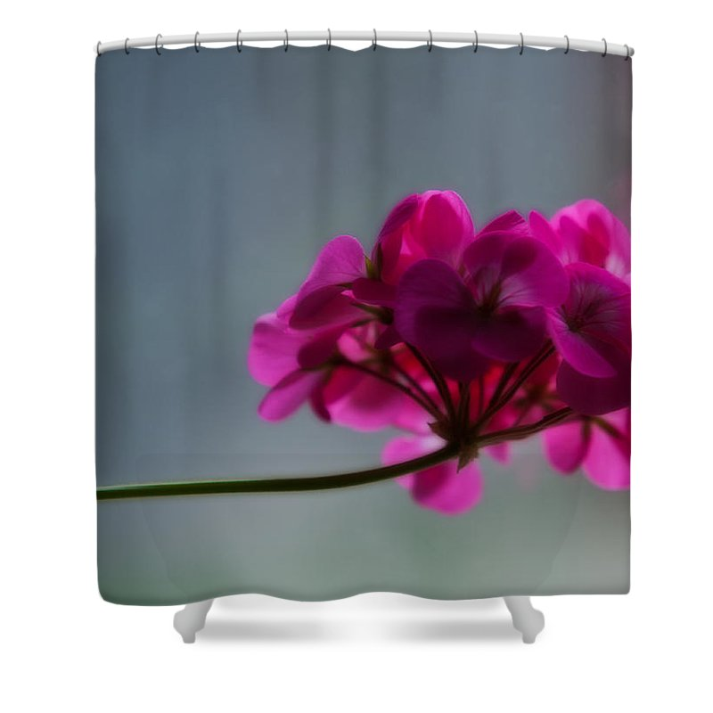 Flower Shower Curtain featuring the photograph Geranium by Edward Peterson