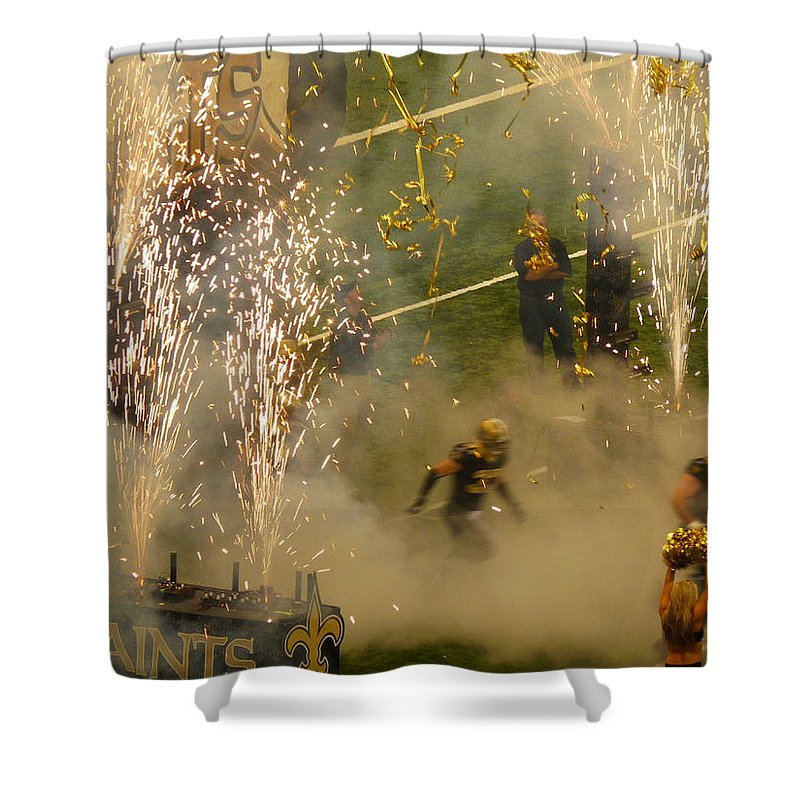 Green Background Shower Curtain featuring the photograph Getting Started by Anthony Walker Sr