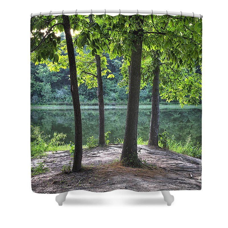 2012 Shower Curtain featuring the photograph Getting To The Point by Larry Braun
