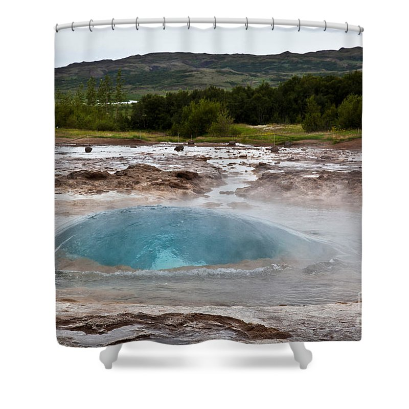 Iceland Shower Curtain featuring the photograph Geysir Eruption Sequence by Greg Dimijian