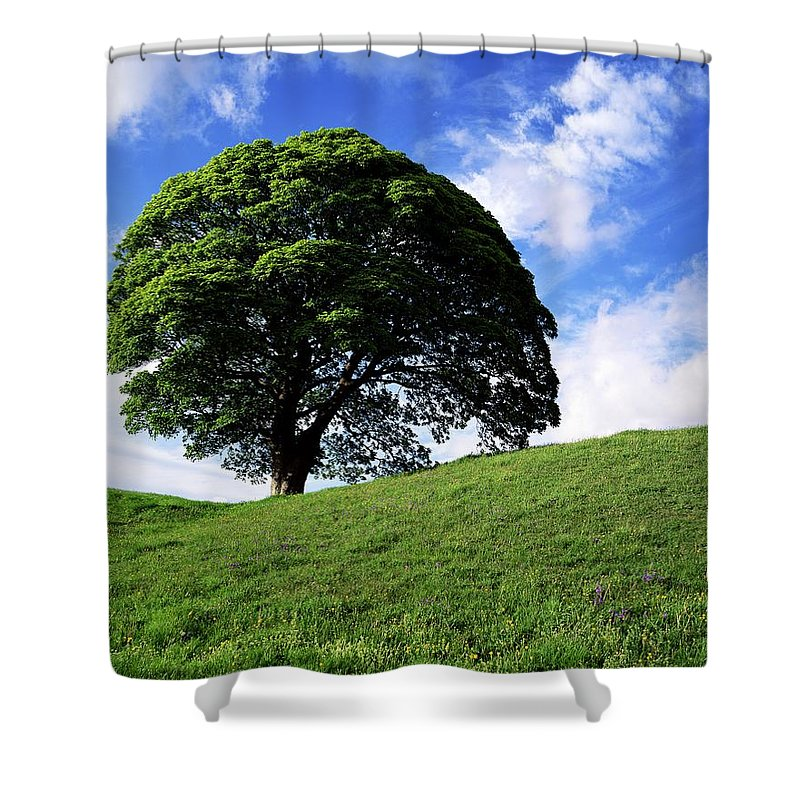 Ballynahatty Shower Curtain featuring the photograph Giants Ring, Belfast, Ireland by The Irish Image Collection