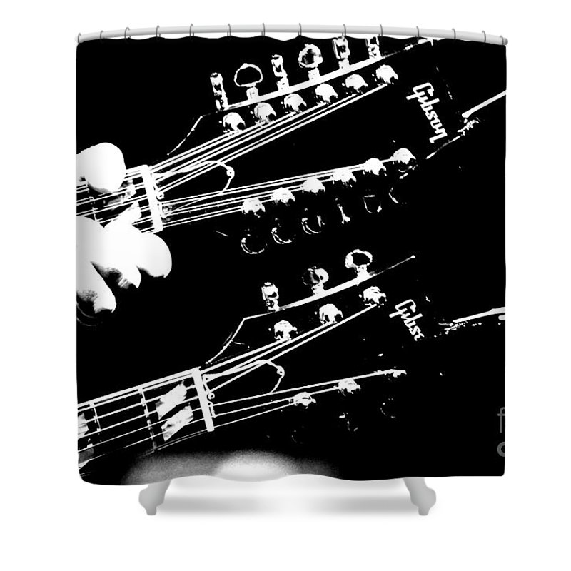 Guitar Shower Curtain featuring the photograph Gibson by Traci Cottingham