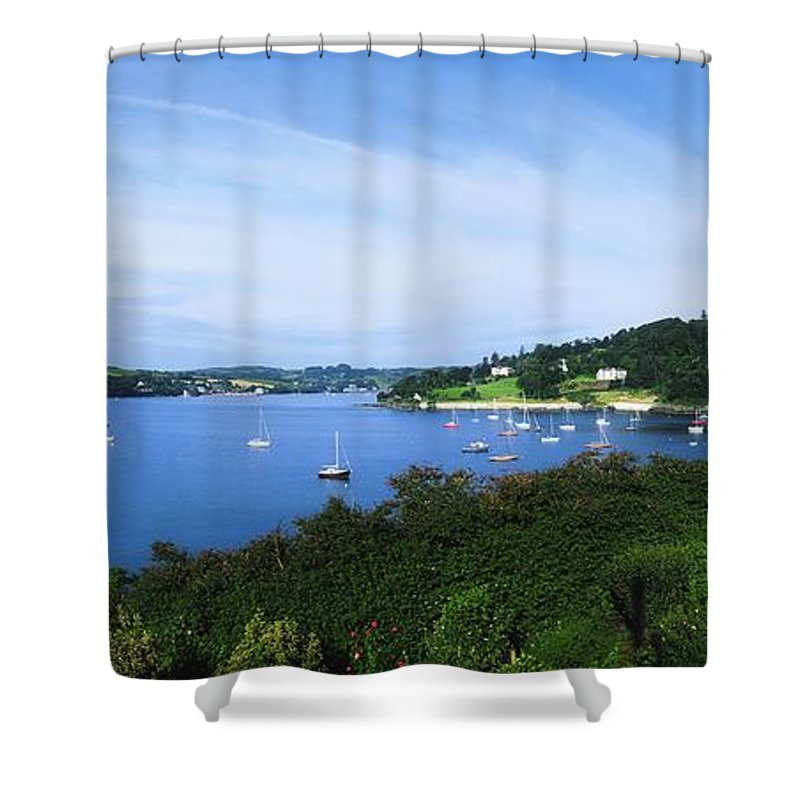 Beauty In Nature Shower Curtain featuring the photograph Glanmore Lake, Beara Peninsula, Co by The Irish Image Collection
