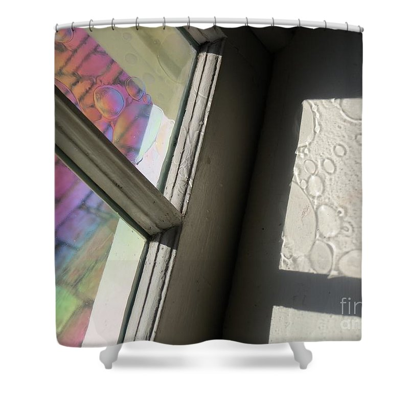 Glass Shower Curtain featuring the photograph Glass Bubbles by Rrrose Pix