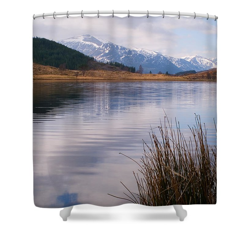 Scotland Shower Curtain featuring the photograph Glen Cannich by Howard Kennedy