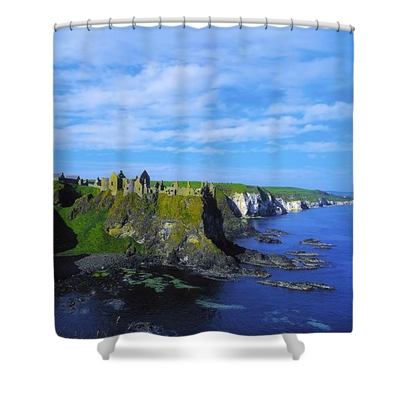 Antrim Glens Shower Curtain featuring the photograph Glenarriff Falls, The Antim Glens, Co by The Irish Image Collection