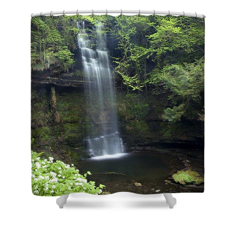 Outdoors Shower Curtain featuring the photograph Glencar Waterfall, Co Sligo, Ireland by Gareth McCormack