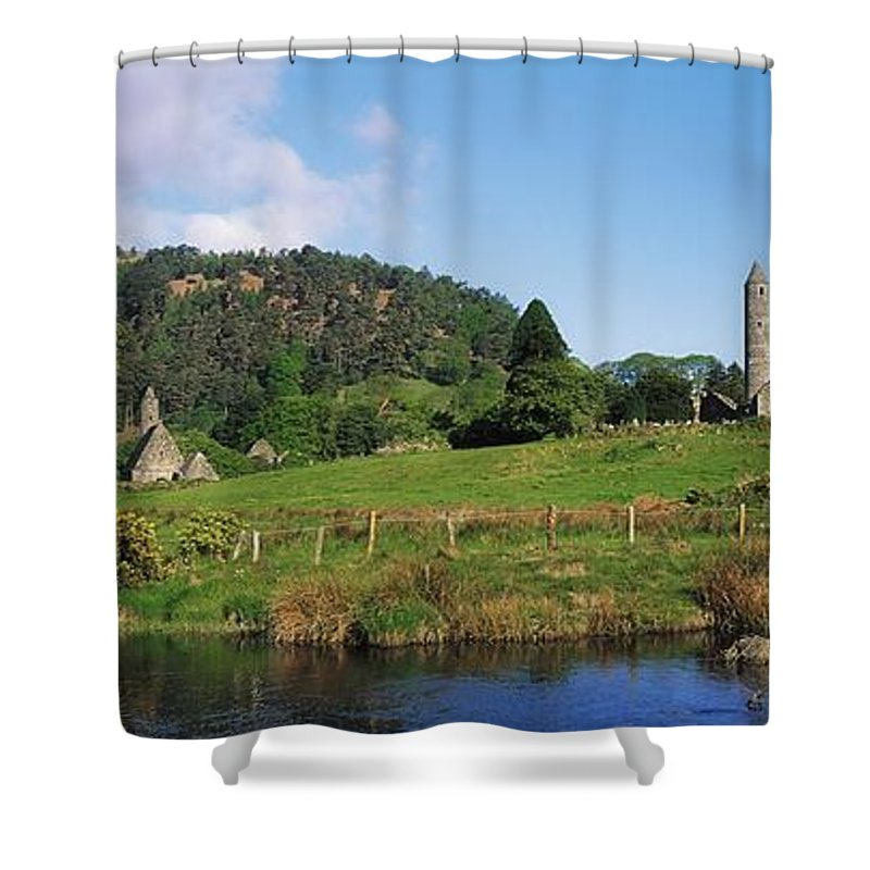 Co Wicklow Shower Curtain featuring the photograph Glendalough, Co Wicklow, Ireland Saint by The Irish Image Collection