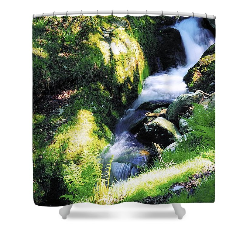 Blurred Motion Shower Curtain featuring the photograph Glendalough, Co Wicklow, Ireland by The Irish Image Collection