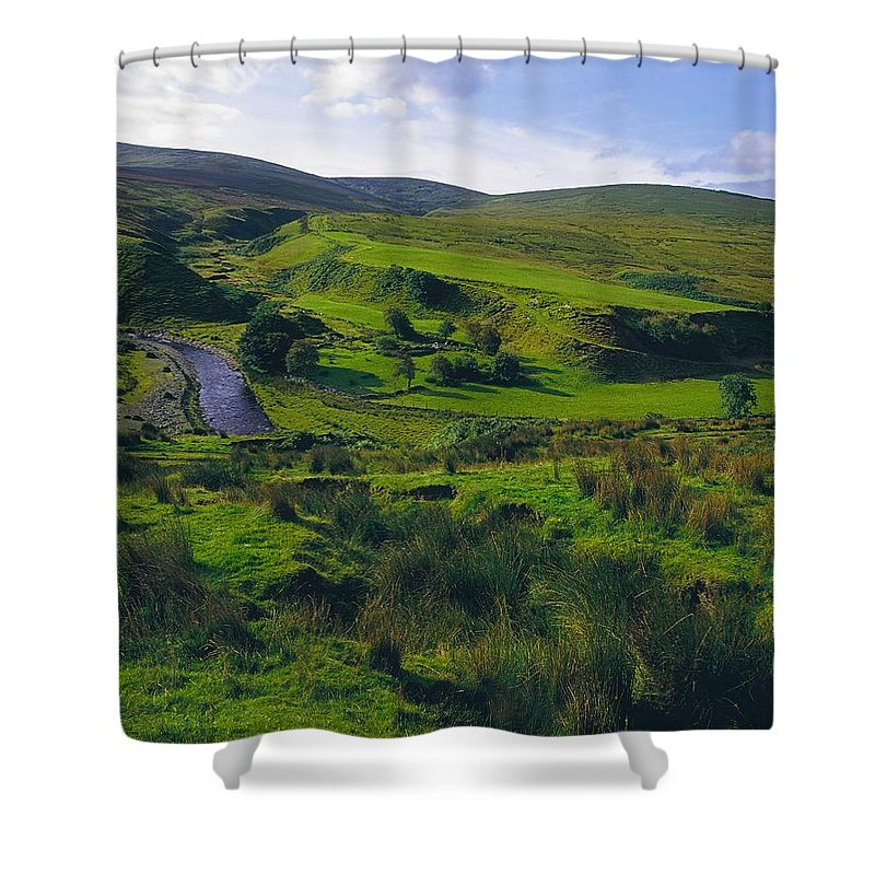 Beauty In Nature Shower Curtain featuring the photograph Glenelly Valley, Sperrin Mountains, Co by The Irish Image Collection