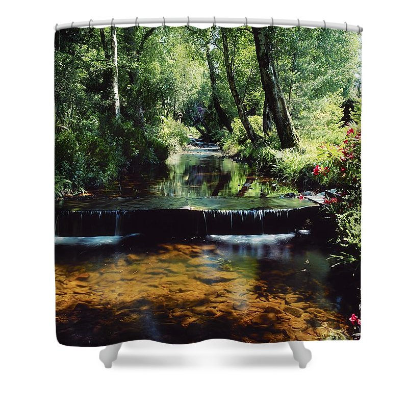 Garden Shower Curtain featuring the photograph Glenleigh Gardens, Co Tipperary by The Irish Image Collection