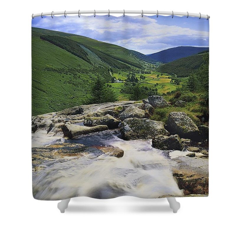 County Wicklow Shower Curtain featuring the photograph Glenmacnass, County Wicklow, Ireland by The Irish Image Collection
