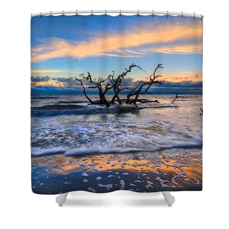 Clouds Shower Curtain featuring the photograph Gold Glitter by Debra and Dave Vanderlaan