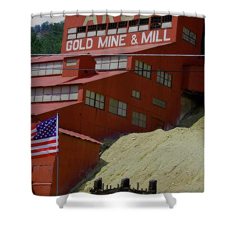 Gold Shower Curtain featuring the photograph Gold In Them Thar Hills by Judy Hall-Folde