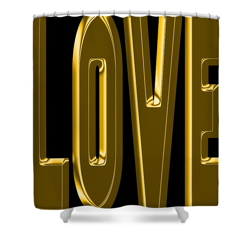 Love Shower Curtain featuring the photograph Gold Love by Andrew Fare