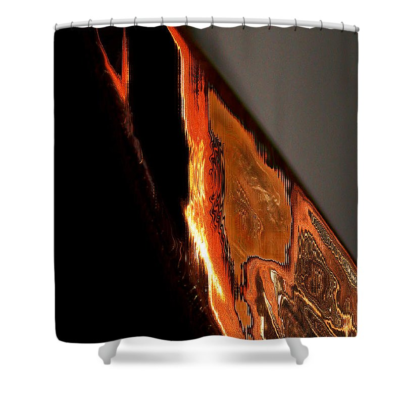 Birds Shower Curtain featuring the digital art Golden Vulture by Tom Hubbard