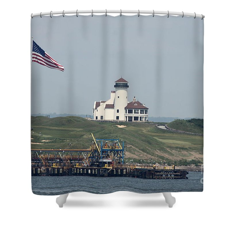 Hudson Shower Curtain featuring the photograph Golf At The Hudson by Christiane Schulze Art And Photography