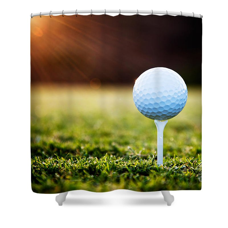 Background Shower Curtain featuring the photograph Golf by Kati Finell