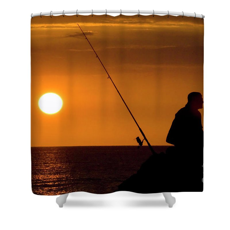 Hawaii Shower Curtain featuring the photograph Gone Fishing by Bob Christopher