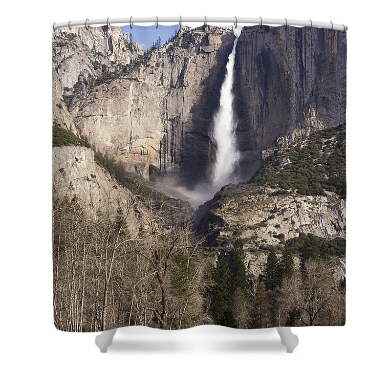 Good Morning Yosemite Shower Curtain featuring the photograph Good Morning Yosemite by Wes and Dotty Weber