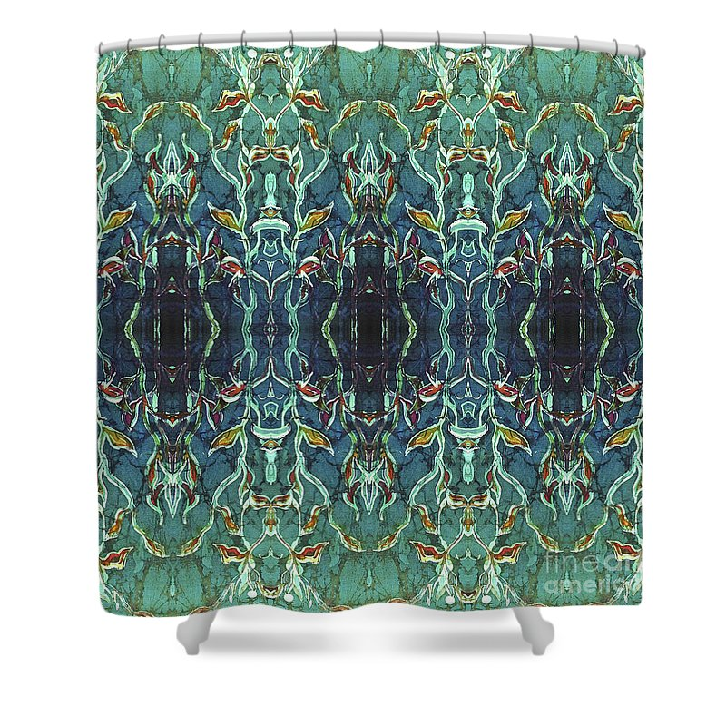 Blues Shower Curtain featuring the painting Graceleavz by Sue Duda