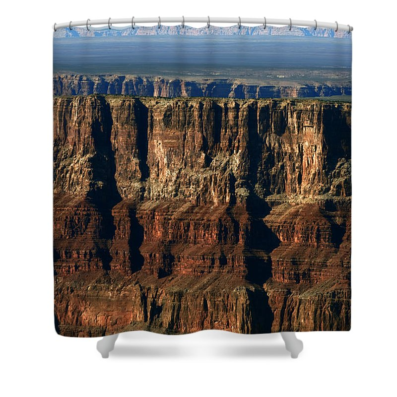 Grand Canyon Shower Curtain featuring the photograph Grand Canyon Cliffs IIi by Julie Niemela