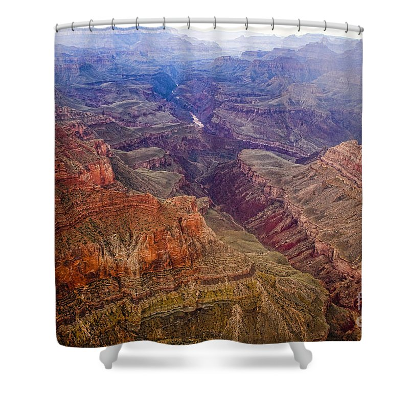 'grand Canyon' Shower Curtain featuring the photograph Grand Canyon Morning Scenic View by James BO Insogna