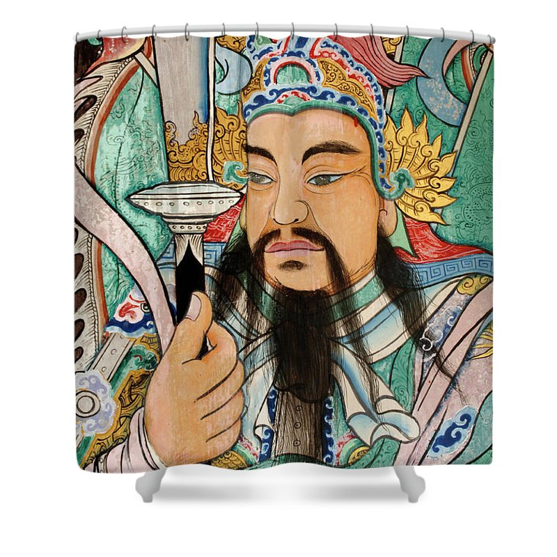 Door Shower Curtain featuring the photograph Grand Palace Bangkok by Bob Christopher