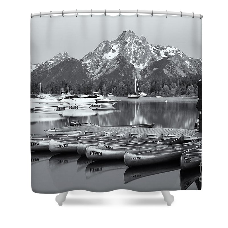 Clarence Holmes Shower Curtain featuring the photograph Grand Teton Dawn Iv by Clarence Holmes