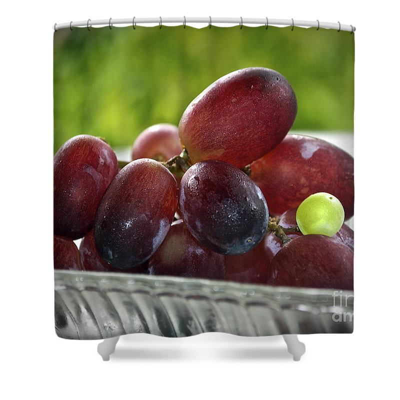 Grape Shower Curtain featuring the photograph Grapes by Gwyn Newcombe
