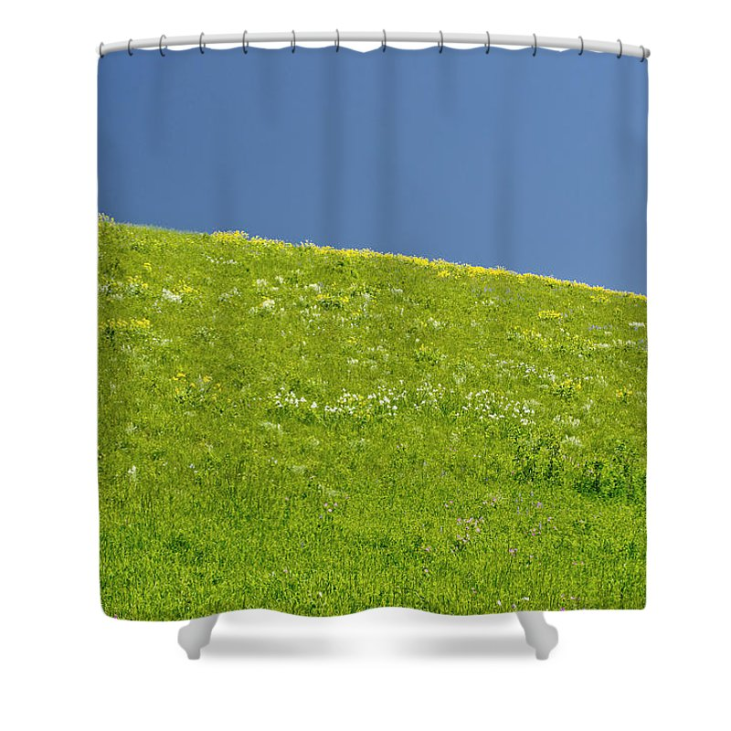 Americas Shower Curtain featuring the photograph Grassy Slope View by Roderick Bley