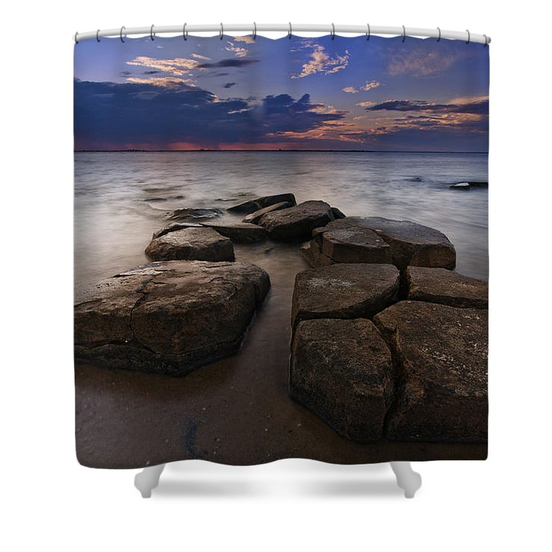 Clouds Shower Curtain featuring the photograph Great South Bay Sunset by Rick Berk