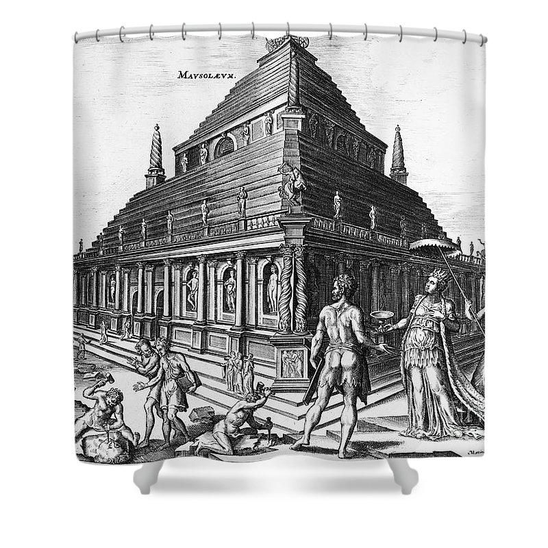 1638 Shower Curtain featuring the photograph Greece: Mausoleum by Granger