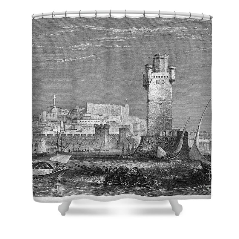 1850s Shower Curtain featuring the photograph Greece: Rhodes, C1850 by Granger