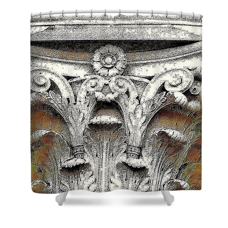 Column Art Photograph Shower Curtain featuring the photograph Greek Column by Diana Chason