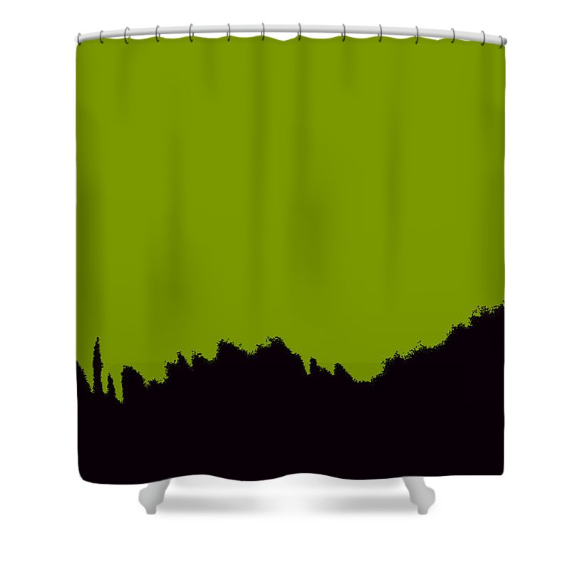 Art Shower Curtain featuring the painting Green Invasion by David Lee Thompson