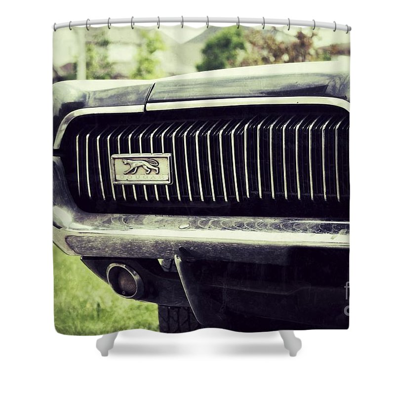 Grill Shower Curtain featuring the photograph Grilled Cougar by Traci Cottingham